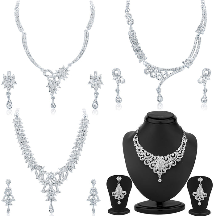 Sukkhi Gitzy Gold Plated Necklace Set Combo