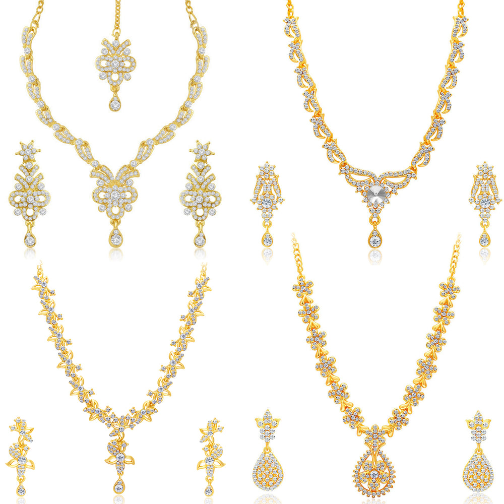 Sukkhi Youthful Gold Plated Necklace Set Combo