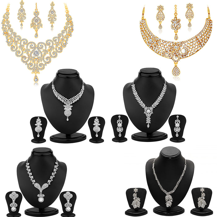 Sukkhi Appealing Gold Plated and Rhodium Combo set for women