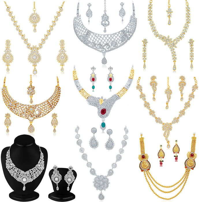 Sukkhi Graceful Gold Plated and Rhodium Combo set for women