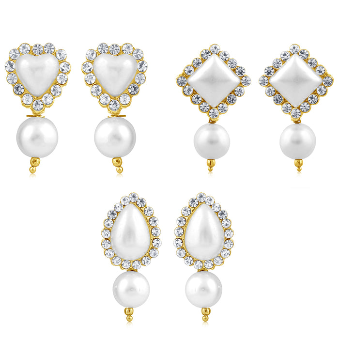 Sukkhi Elegant Gold Plated Earring Combo Set For Women