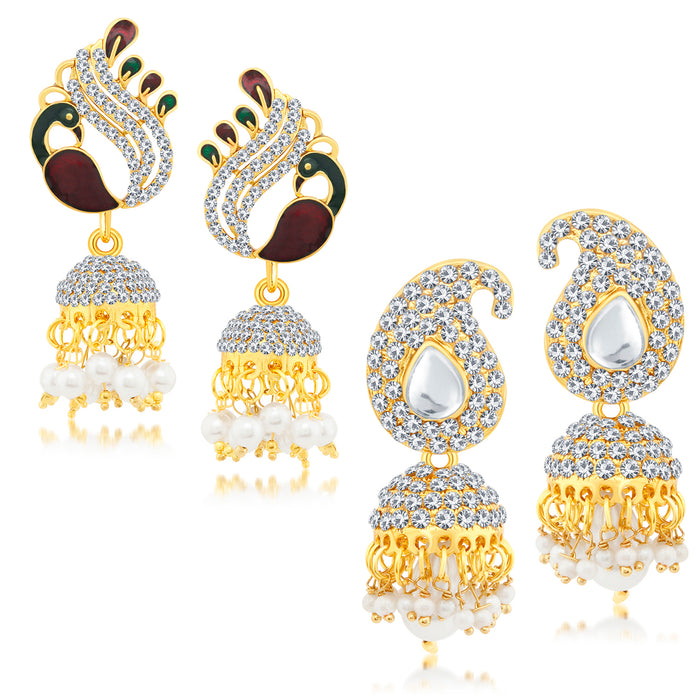 Sukkhi Ethnic Gold Plated Earring Combo Set For Women