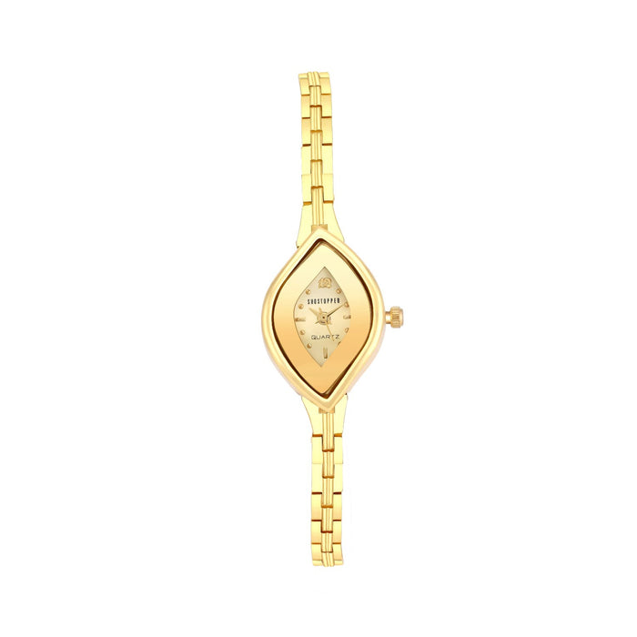 Sukkhi Dazzling Gold Plated Necklace Set + Watch Combo for Women