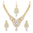 Sukkhi Classic Gold Plated Pearl Meenakari Necklace Set Combo  For Women