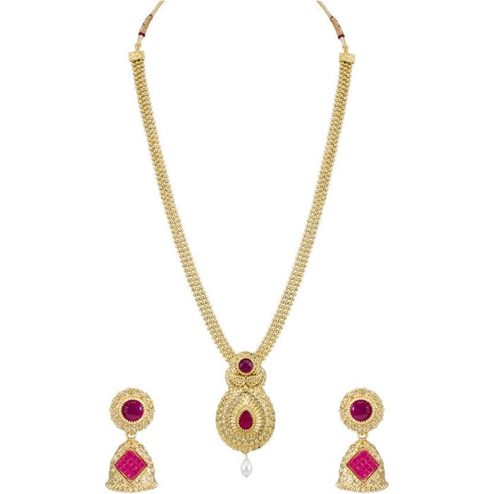 Sukkhi Astonish Gold Plated Pearl Necklace Set Combo  For Women