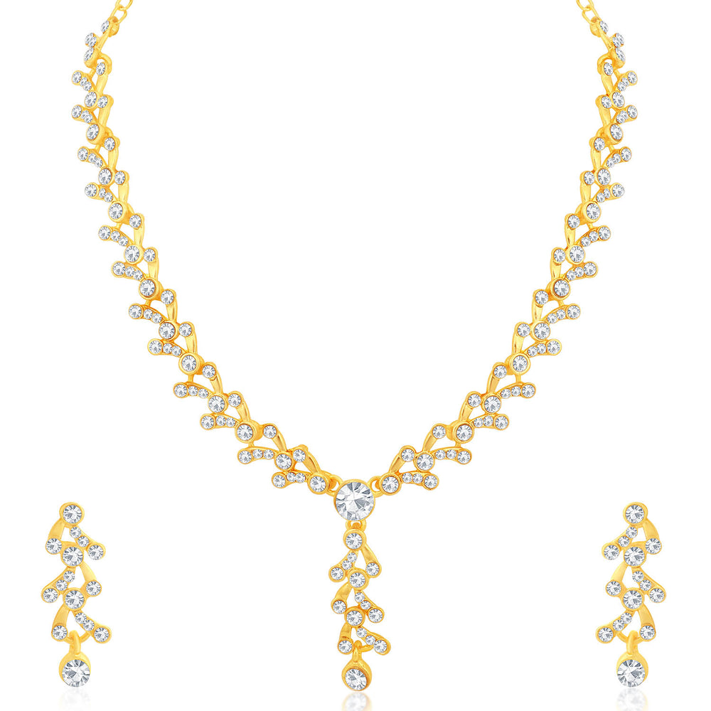 Sukkhi Glorious Gold Plated Necklace Set Combo  For Women