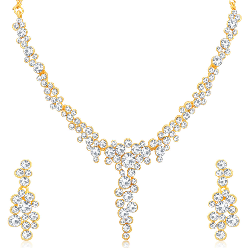 Sukkhi Adorable Gold Plated Necklace Set Combo  For Women