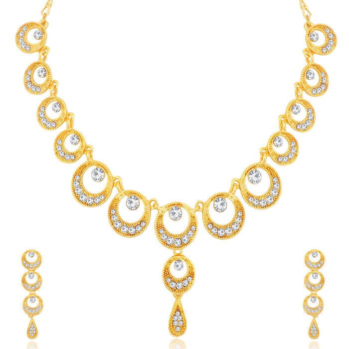 Sukkhi Fancy Gold Plated Necklace Set Combo  For Women