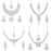 Sukkhi Glitzy Rhodium Plated Necklace Set Combo  For Women