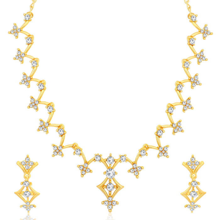 Sukkhi Fascinating Gold and Rhodium Plated Necklace Set Combo  For Women