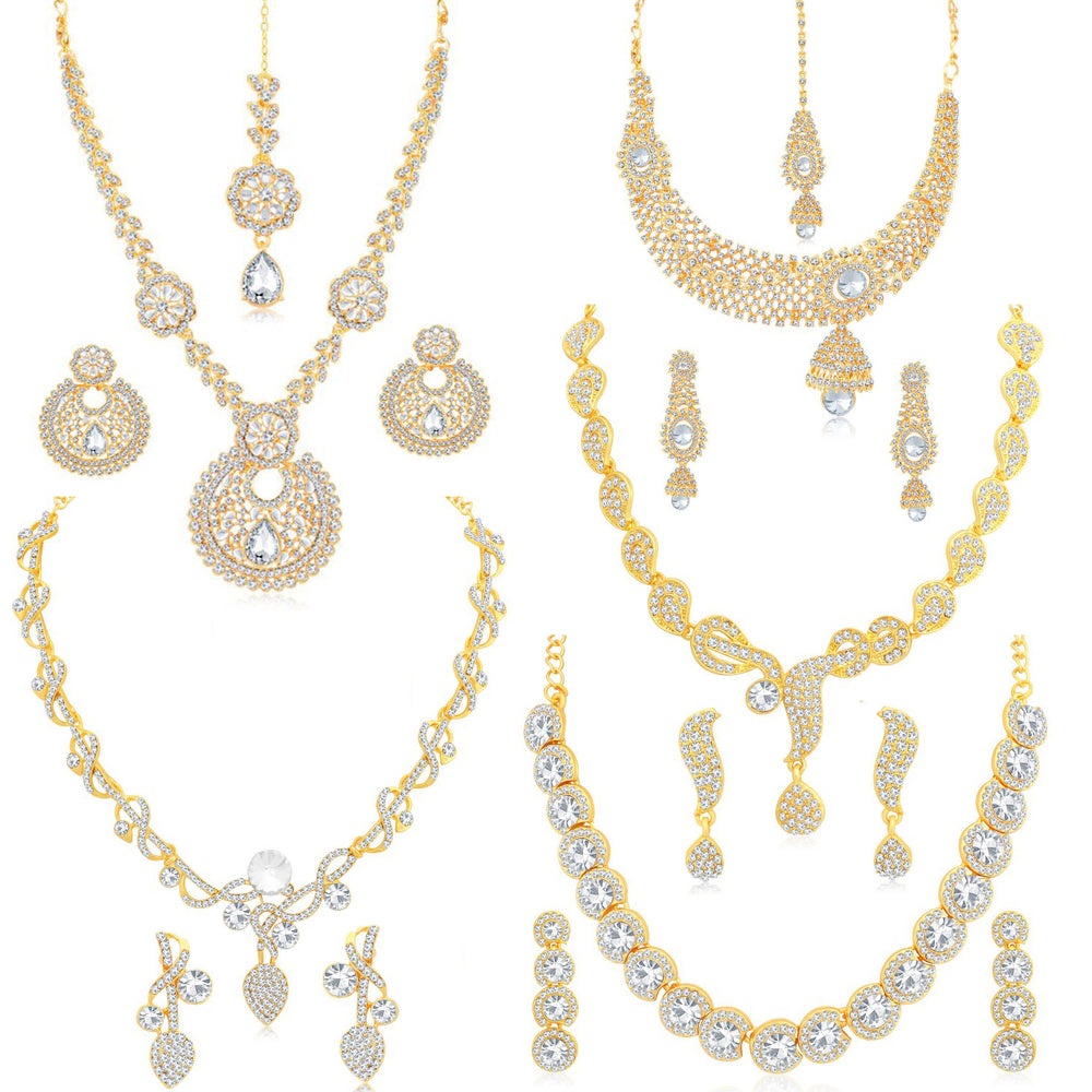 Sukkhi Impressive Gold Plated Necklace Set Combo  For Women