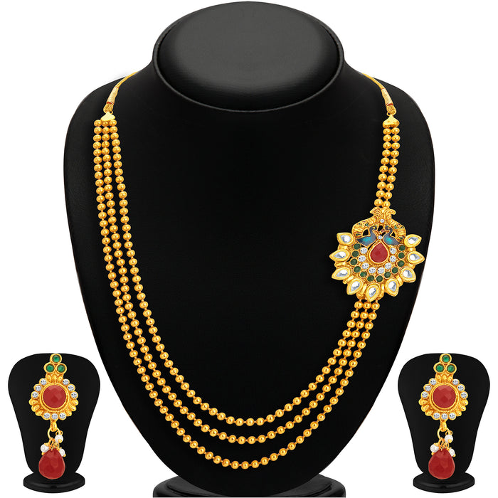 Sukkhi Incredible Gold Plated Necklace Set Combo  For Women