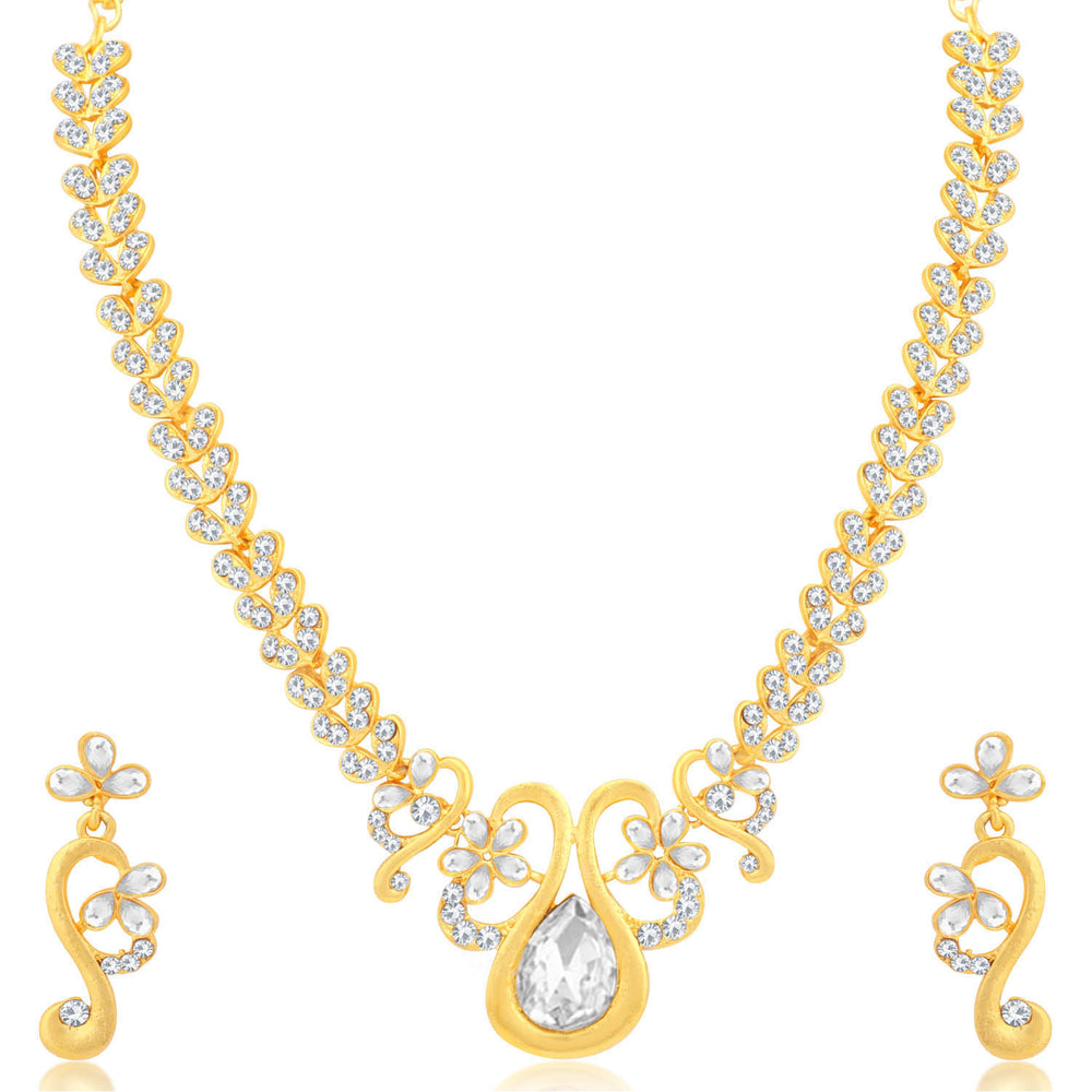 Sukkhi Gorgeous Gold and Rhodium Plated Necklace Set Combo  For Women