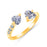 Sukkhi Ritzy Gold and Rhodium Plated CZ Free Size Ring Combo for Women (Set of 3)