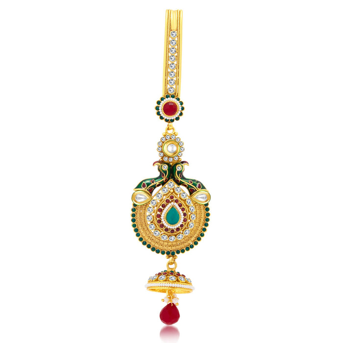Sukkhi Divine Peacock Gold Plated Chabi Challa For Women