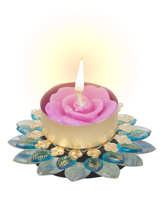 Sukkhi Exclusive Diya Candle in Firoza Pink