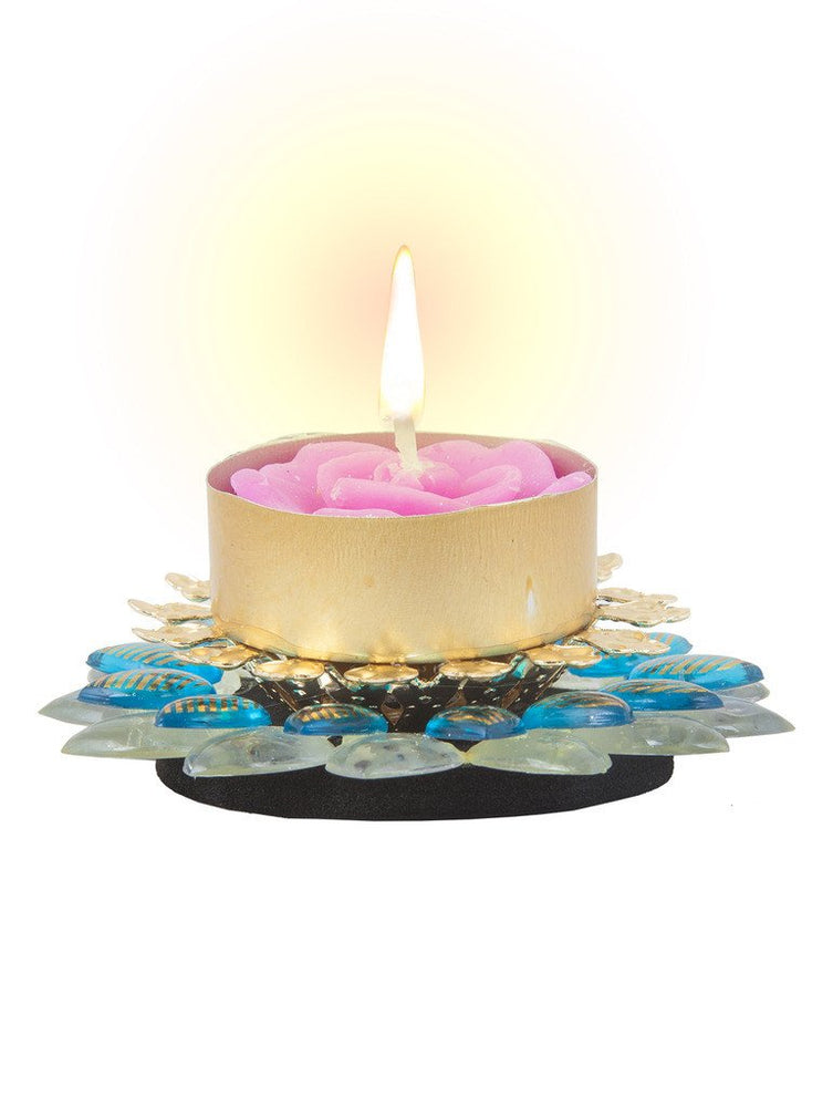 Sukkhi Exclusive Diya Candle in Firoza Pink-1
