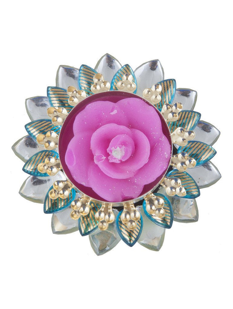 Sukkhi Exclusive Diya Candle in Firoza Pink-2