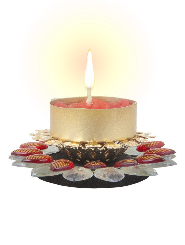 Sukkhi Best Selling Diya Candle in Vibrant Red-1