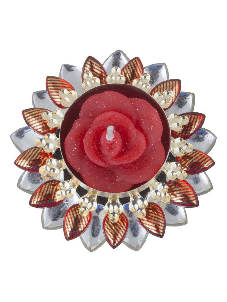 Sukkhi Best Selling Diya Candle in Vibrant Red-2