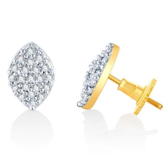 Pissara Classic Gold and Rhodium plated CZ Earrings