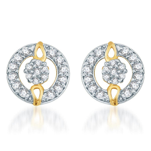 Pissara Exotic Gold and Rhodium plated CZ Earrings