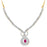 Pissara Gold and Rhodium plated Exotic CZ Necklace Set -1
