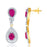 Pissara Gold and Rhodium plated Exotic CZ Necklace Set -2