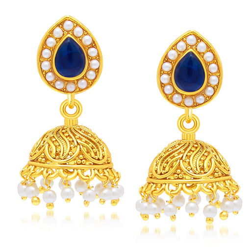 Sukkhi Blossomy Gold Plated Jhumki Earring For Women