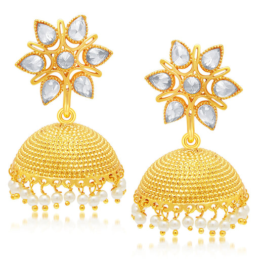 Sukkhi Ravishing Gold Plated Jhumki Earring For Women
