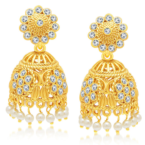 Sukkhi Pretty Gold Plated Jhumki Earring For Women