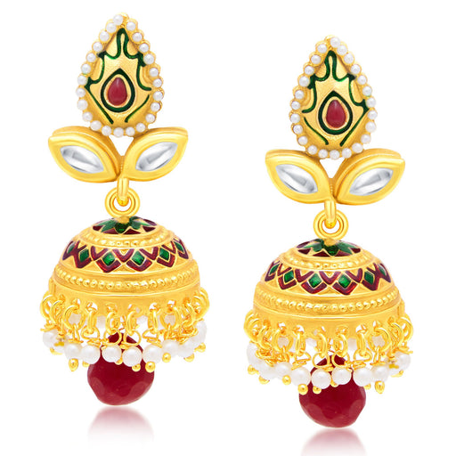 Sukkhi Stylish Gold Plated Jhumki Earring For Women