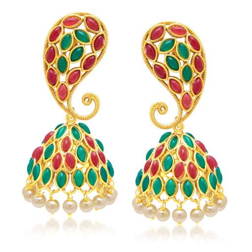 Sukkhi Cluster Gold Plated Jhumki Earring For Women