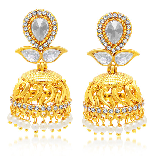 Sukkhi Gleaming Gold Plated Jhumki Earring For Women