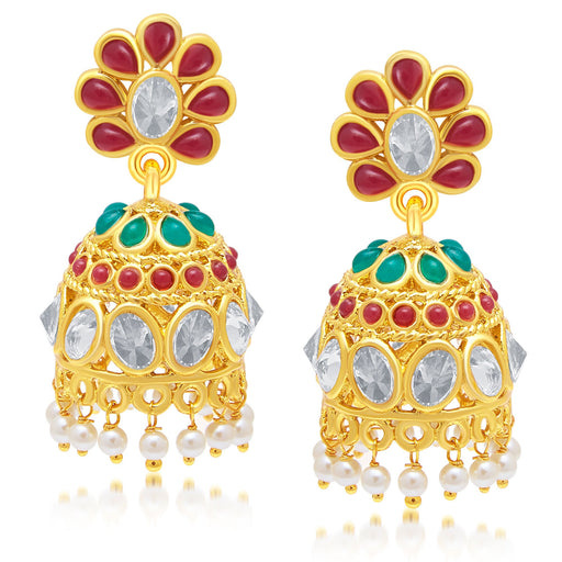 Sukkhi Bewitching Gold Plated Jhumki Earring For Women