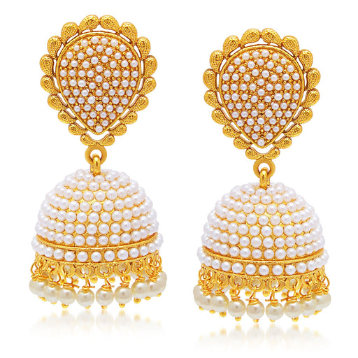 Sukkhi Eye-Catchy Gold Plated Jhumki Earring For Women