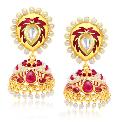 Sukkhi Enchanting Gold Plated Jhumki Earring For Women