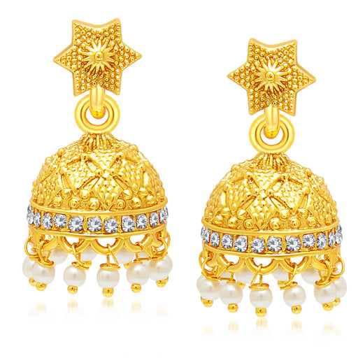 Sukkhi Fine Gold Plated Jhumki Earring For Women