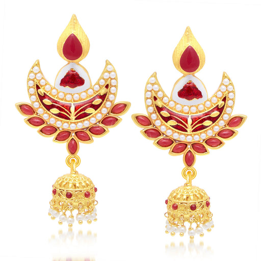Sukkhi Glimmery Gold Plated Jhumki Earring For Women
