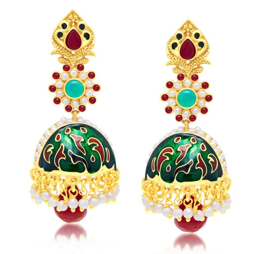 Sukkhi Dazzling Gold Plated Jhumki Earring For Women