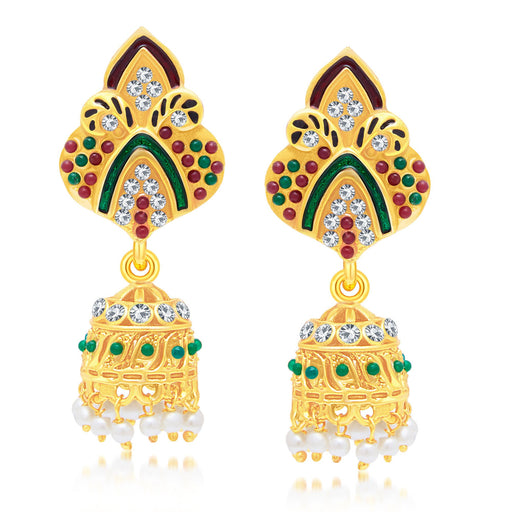 Sukkhi Angelic Gold Plated Jhumki Earring For Women
