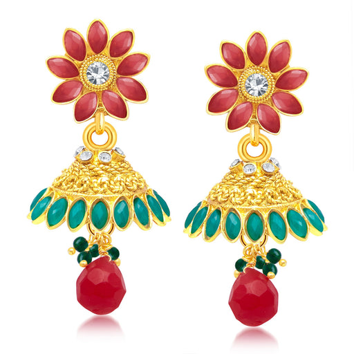 Sukkhi Divine Paisley Gold Plated Jhumki Earring For Women