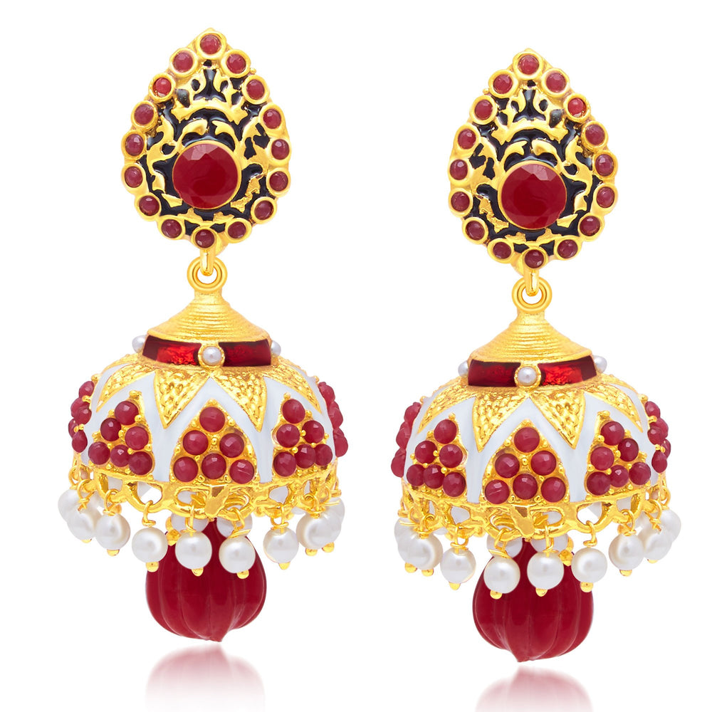 Sukkhi Sleek Gold Plated Jhumki Earring For Women