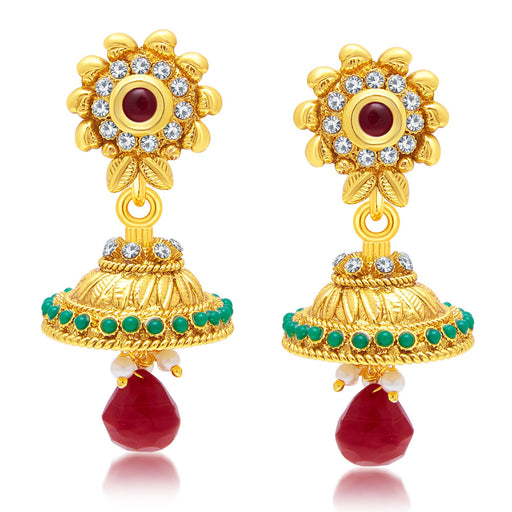 Sukkhi Brilliant Gold Plated Jhumki Earring For Women
