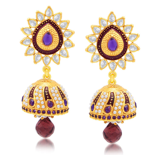 Sukkhi Sparkling Gold Plated Jhumki Earring For Women