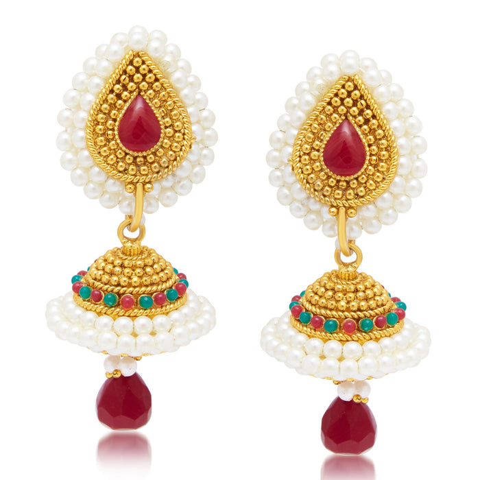 Sukkhi Glorious Gold Plated Jhumki Earring For Women