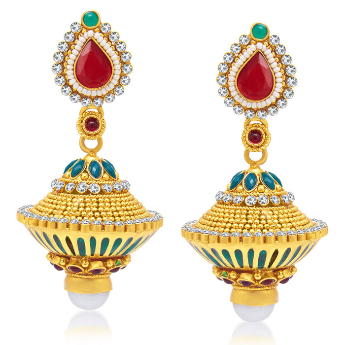 Sukkhi Creative Gold Plated Jhumki Earring For Women