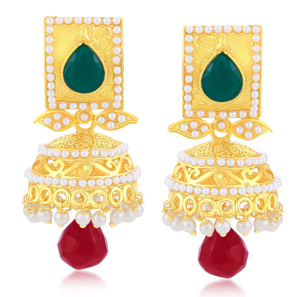 Sukkhi Beguiling Gold Plated Jhumki Earring For Women
