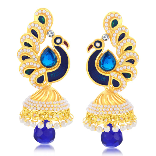 Sukkhi Ravishing Peacock Gold Plated Jhumki Earring For Women