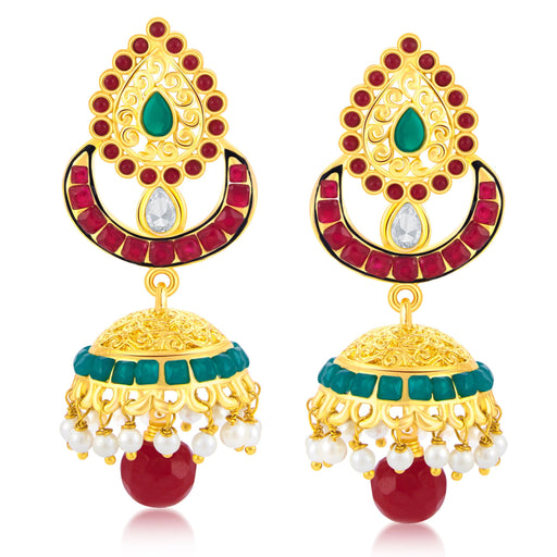 Sukkhi Fancy Gold Plated Jhumki Earring For Women
